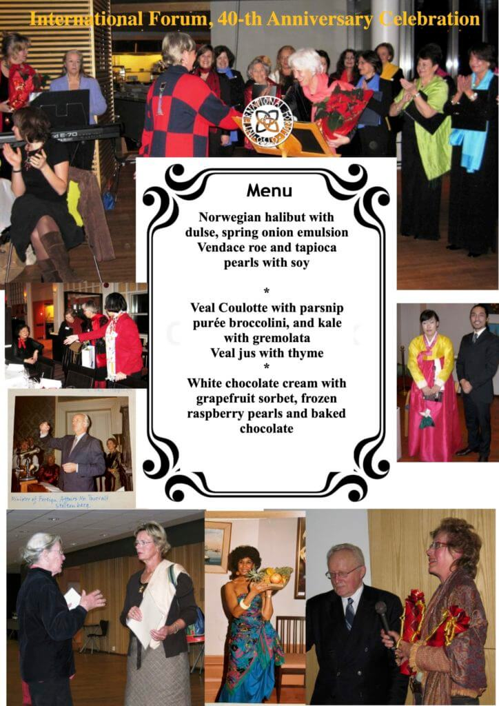 Pamphlet 40 years anniversary menu p 1