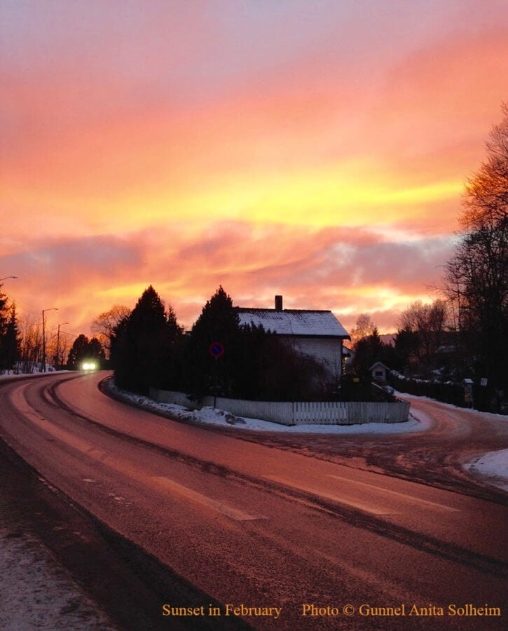 Sunset in February_text